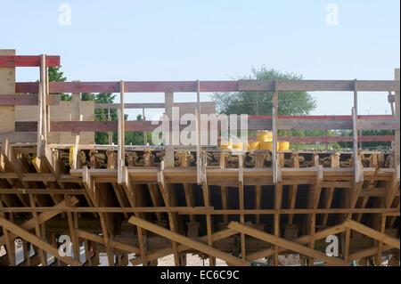 Wooden frame on bridge - Stock Photo