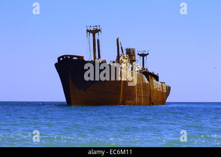 The ghost ship of Black Sea - Stock Photo