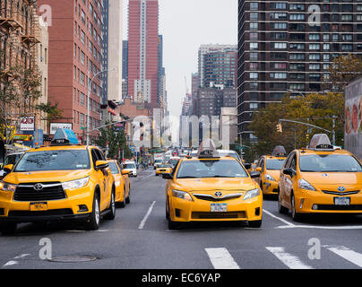 Taxis in NYC - Stock Photo