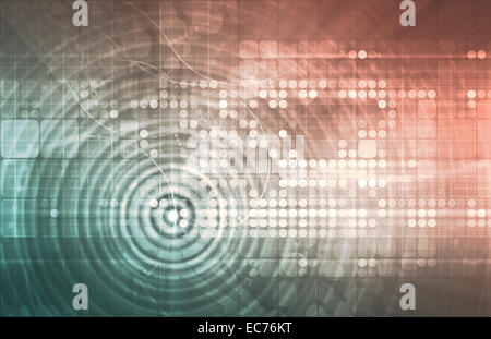 Electronica Technology Abstract as a Art Concept - Stock Photo