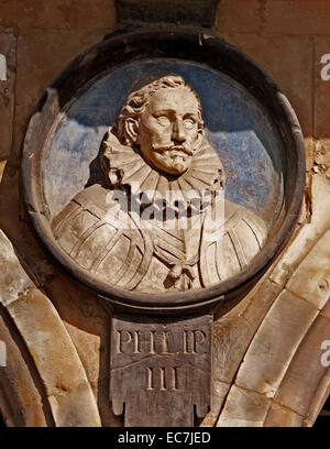 Philip III the Pious 1578-1621 Spanish King ( Plaza Mayor Square Salamanca )  Spain - Stock Photo