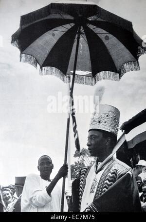 Major General Sir Edward Frederick William David Walugembe Mutebi Luwangula Mutesa II KBE (19 November 1924 – 21 - Stock Photo