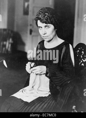 Grace Coolidge the wife of President Calvin Coolidge. Calvin Coolidge was the 30th President of the United States. - Stock Photo