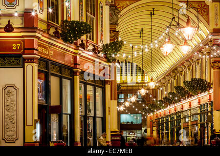Leadenhall Market Interior, London, England - Stock Photo