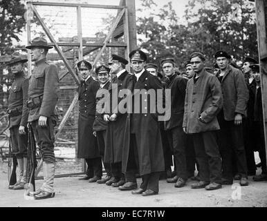 Photograph of Captured German Officers and Crew - Stock Photo