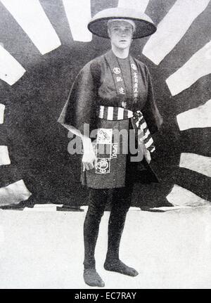 Prince of Wales (later King Edward VIII) visits Japan in 1922 - Stock Photo