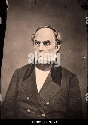 Daniel Webster (January 18; 1782 – October 24; 1852) American senator from Massachusetts during the period leading - Stock Photo