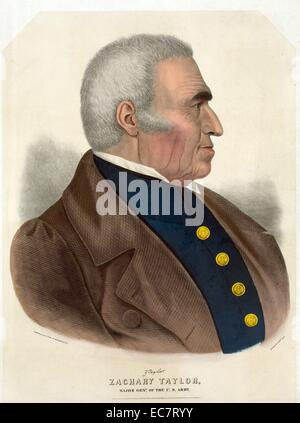 Zachary Taylor (November 24; 1784 – July 9; 1850) was the 12th President of the United States; serving from March - Stock Photo