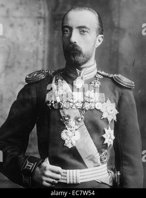Portrait of Grand Duke Michael Alexandrovich of Russia. He was the youngest son of Emperor Alexander III of Russia. - Stock Photo