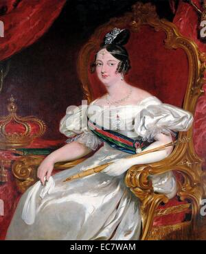 Dona Maria II (4 April 1819 – 15 November 1853) by John Simpson. Maria 'the Educator' Queen regnant of Portugal - Stock Photo