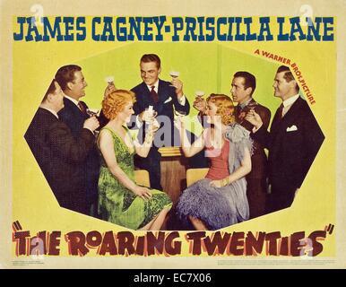The Roaring Twenties, a 1939 crime thriller starring James Cagney, Priscilla Lane, Humphrey Bogart - Stock Photo