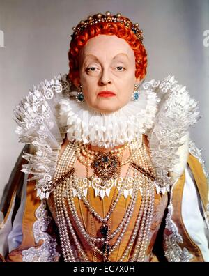 The Virgin Queen is a 1955 DeLuxe Color historical drama film in CinemaScope starring Bette Davis, Richard Todd - Stock Photo