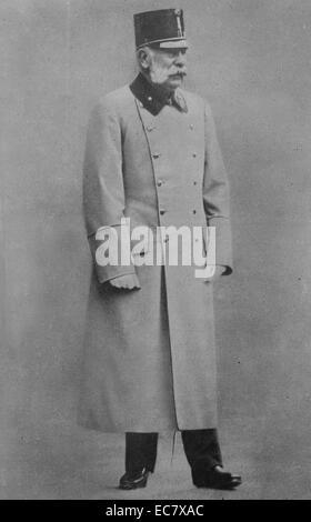 Franz Joseph I or Francis Joseph I (German: Franz Joseph I. 1830 – 1916. Emperor of Austria and Apostolic King of - Stock Photo