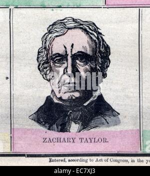 Zachary Taylor (November 24, 1784 – July 9, 1850) was the 12th President of the United States, serving from March - Stock Photo