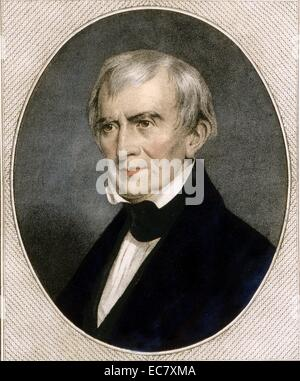 President William Harrison. Harrison was the ninth President of the United States, an American military officer - Stock Photo