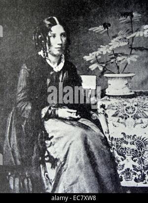 Harriet Beecher Stowe (1811-1896) was an American abolitionist and author.  Her novel Uncle Tom's Cabin (1852) was - Stock Photo
