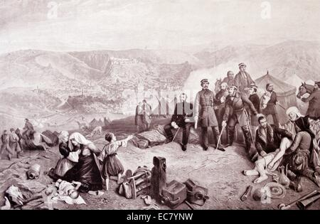 The Defence of Kars. During the Crimean War an Ottoman garrison led by British officers including General William - Stock Photo