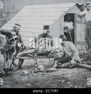 British officers during the Crimean war 1854 - Stock Photo