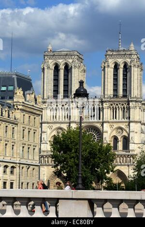 Notre Dame Cathedral, Paris France - Stock Photo