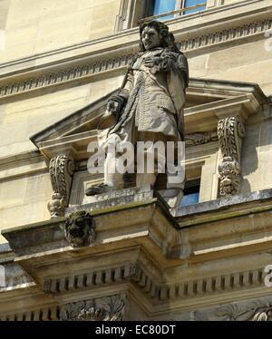 Statue to Jean-Baptiste Colbert (1619-1683) French politician. Dated 17th century. - Stock Photo