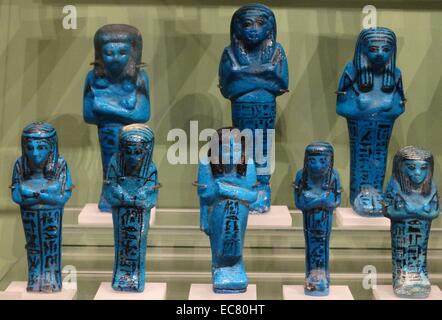 21st dynasty, Shabti's buried with prominent people in ancient Egypt - Stock Photo