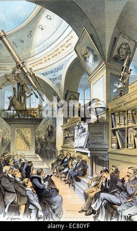 The universal church of the future - from the present religious outlook.' Illustration shows an interior view of - Stock Photo