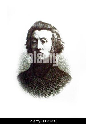 Adam Bernard Mickiewicz (1798 – 1855) was a Polish poet, translator, professor of Slavic literature, and political - Stock Photo