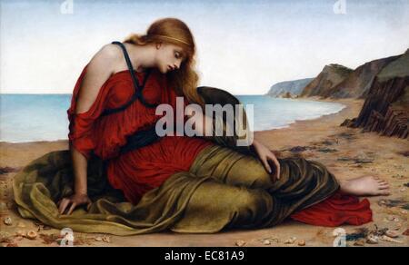 Ariadne in Naxos 1877, by Evelyn De Morgan - Stock Photo
