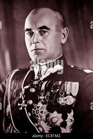 Photograph of Edward Rydz-Śmigły (1886-1941) Marshal of Poland, politician, Commander-in-Chief of Poland's armed - Stock Photo