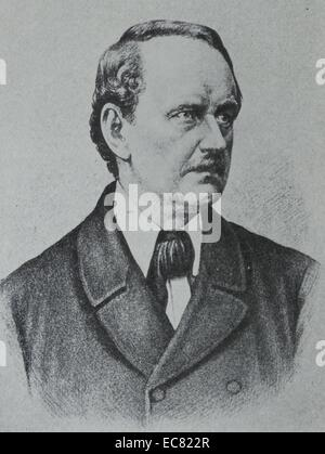 Matthias Jakob Schleiden (5 April 1804 – 23 June 1881) was a German botanist. He was best known for being a co-founder - Stock Photo