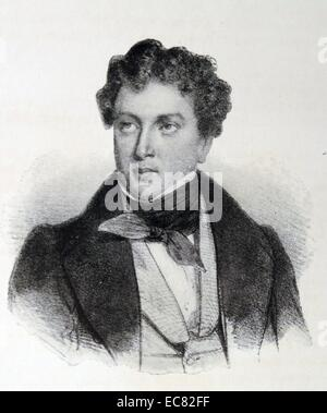 Portrait of Alexandre Dumas (1802-1870) French writer. Dated 1824 - Stock Photo