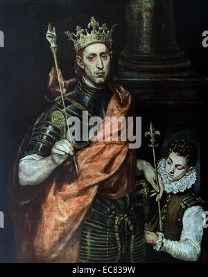St. Louis King of France with a Page by El Greco c.1590 - Stock Photo