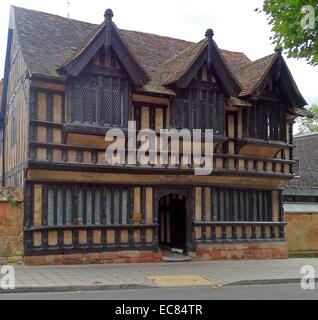 Ford's Hospital, Coventry, traditionally known as Grey Friars Hospital. 16th-century half-timbered alms-house in - Stock Photo