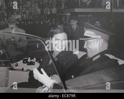 Photograph of Marshal Josip Broz Tito and Jovanka Broz - Stock Photo