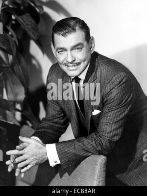 Photograph of Clark Gable (1901-1960) American film actor. Dated 1950 - Stock Photo