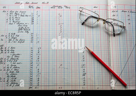 Old Fashioned Accounting Ledger