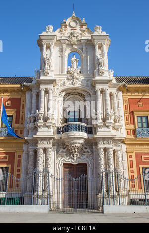 Seville - The Palace of San Telmo (Palacio San Telmo) - Stock Photo
