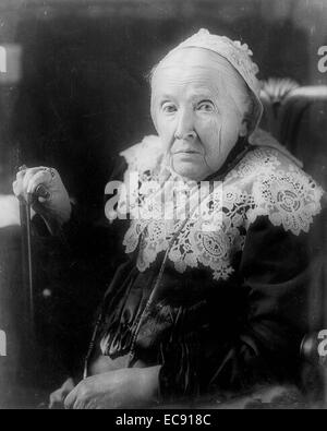 Julia Ward Howe, half-length portrait, seated, facing left   was a prominent American abolitionist, social activist, - Stock Photo