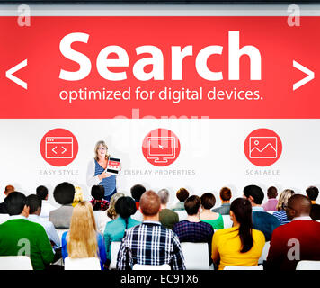Search Networking SEO Web Seminar Conference Learning Concept - Stock Photo
