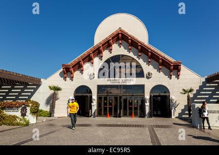 Entrance Building, Hearst Castle, San Simeon, California, USA - Stock Photo