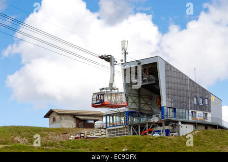 Piz Nair Funicular, St.Moritz, Grisons, Switzerland - Stock Photo