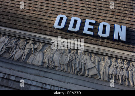 Exterior of an Odeon cinema in central London. The Saville Theatre is a former West End theatre at 135 Shaftesbury - Stock Photo
