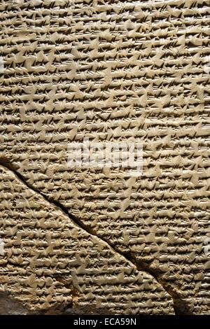 Cuneiform tablet, Anadolu Medeniyetleri Müzesi or Museum of Anatolian Civilizations, Ankara, Turkey - Stock Photo
