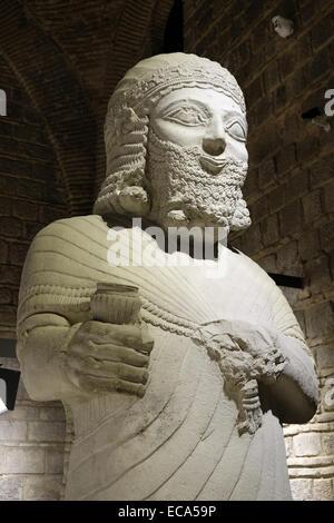 Statue of the Hittite king Mutallu, Anadolu Medeniyetleri Müzesi or Museum of Anatolian Civilizations, Ankara, Turkey - Stock Photo