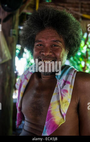 Traditional woodworker, Pohnpei, Micronesia - Stock Photo
