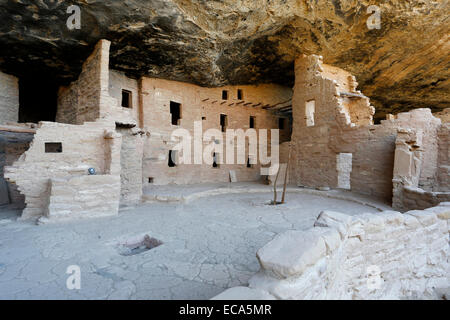 Spruce Tree House, cliff dwellings of the Anasazi, Mesa Verde National Park, Colorado, United States - Stock Photo