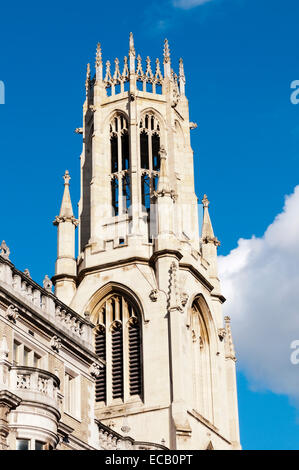 The tower of St Dunstan in the West church, Fleet Street, London. - Stock Photo
