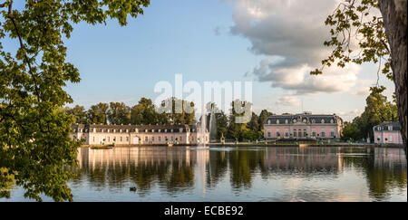 Panorama of Benrath Castle, Duesseldorf, Germany - Stock Photo