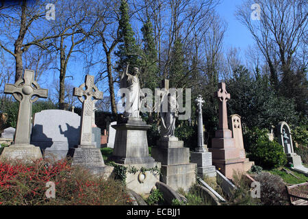 united kingdom north london highgate cemetery east - Stock Photo