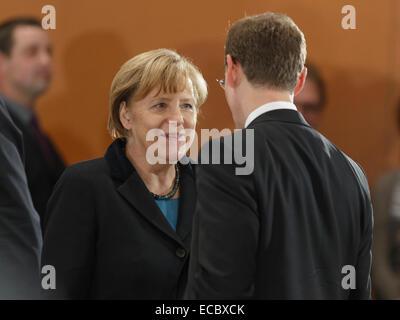 Berlin, Germany. 11th Dec, 2014. Meeting of Angela Merkel with the Prime Ministers of the German federal states - Stock Photo